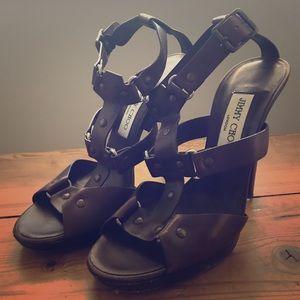 Jimmy Choo leather high-heels